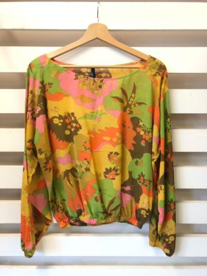 blusa NUVOLA SILK CREPE ORANGE SAVANA