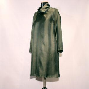 abito NEWPORT verde bosco silk twill