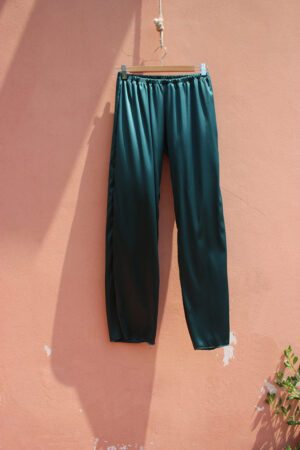 YOGA PANT SILK Raso Foresta green
