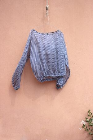 blusa NUVOLA SILK chiffon sky blue