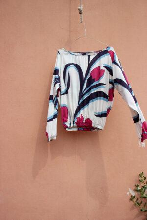 blusa NUVOLA SILK tulipani scolpiti