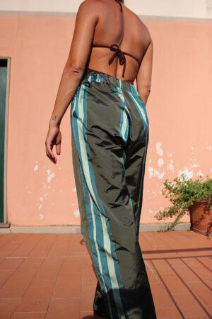 pantalone PALAZZO Striped Green