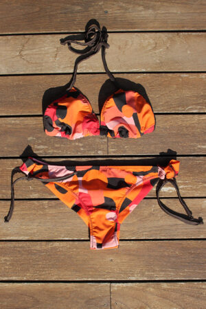 bikini CARNIVAL orange numbers