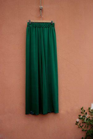pantalone PALAZZO jersey green